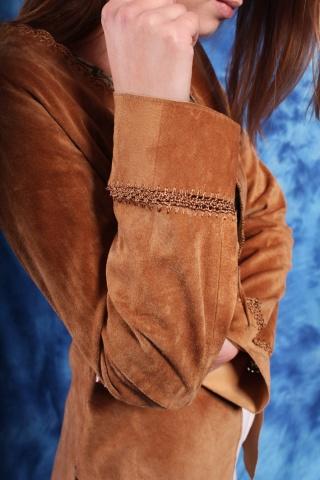 Vintage narzutka z brązowej...