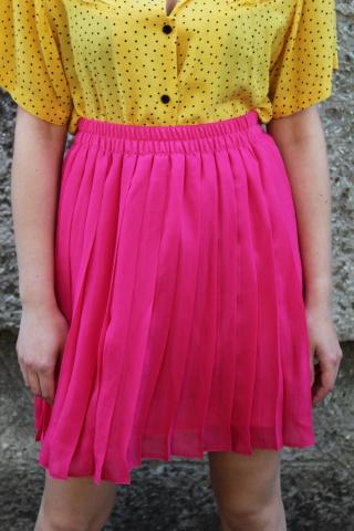 Vintage plisowana różowa...