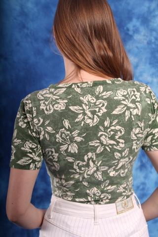 Vintage zielone bawełniane...