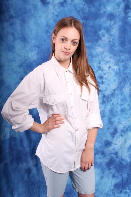 Vintage biała jeansowa...