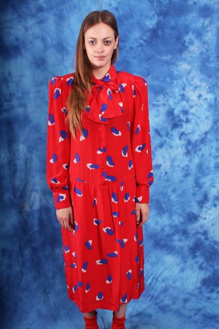 Vintage czerwona sukienka...
