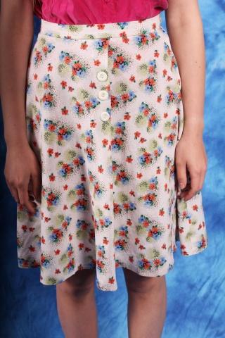 Vintage kolorowa spódnica w...