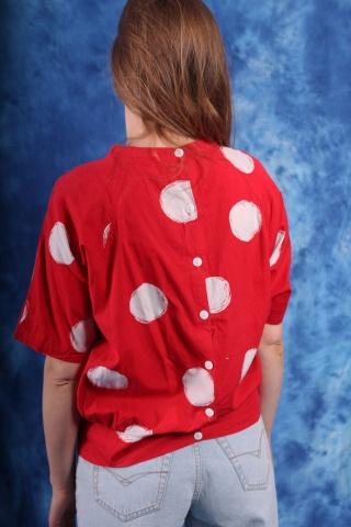Vintage bawełniana czerwona...