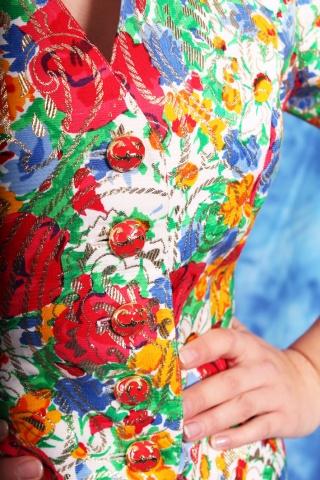 Vintage żakiet w kolorowy...