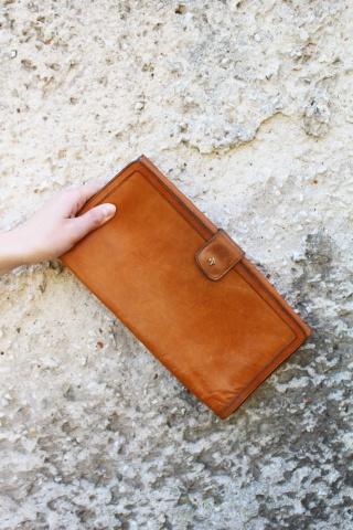 Vintage skórzana torebka do...
