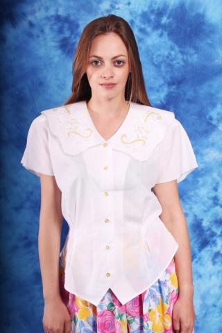 Vintage bawełniana bluzka z...