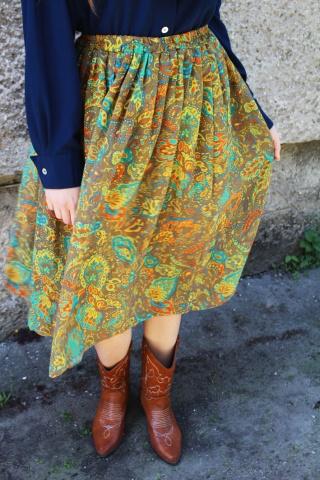 Vintage zwiewna spódnica w...