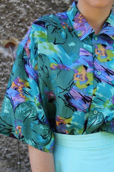 Vintage jedwabna kolorowa...