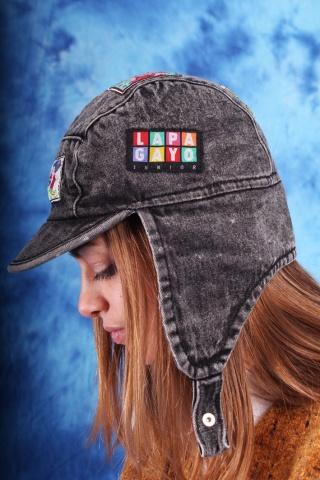 Vintage jeansowa czapeczka...