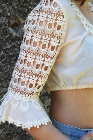 Vintage haftowany top...