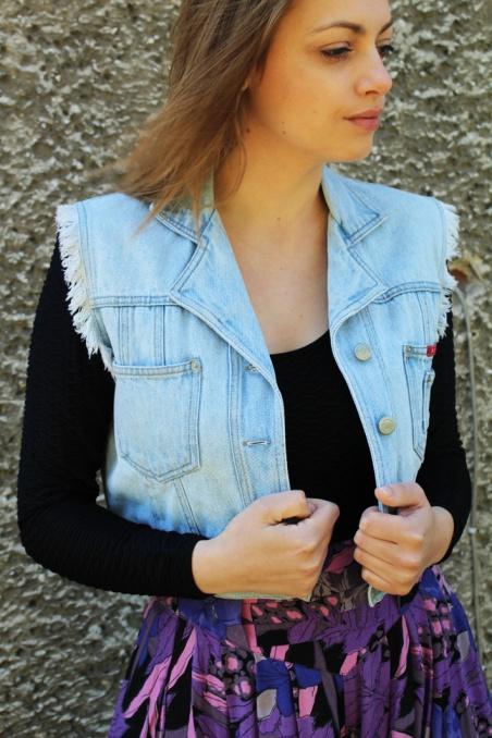 Vintage jeansowa...
