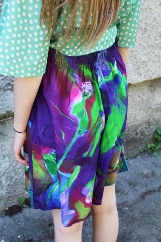 Vintage kolorowe bawełniane...