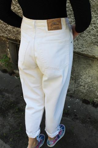 Vintage white denim mom...