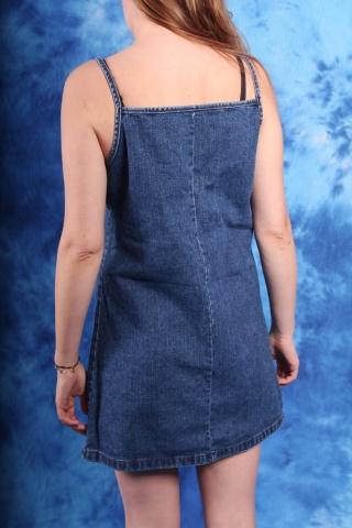 Vintage jeansowa sukienka...