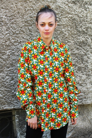 Vintage kolorowa koszula w...