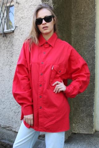 Vintage czerwona bawełniana...