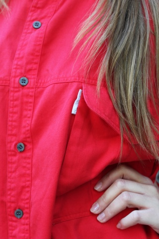Vintage red cotton ADIDAS...