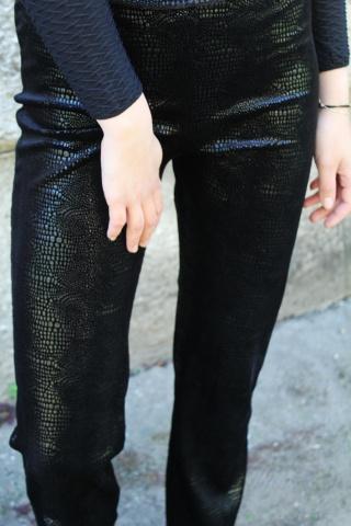 Vintage czarne spodnie w...