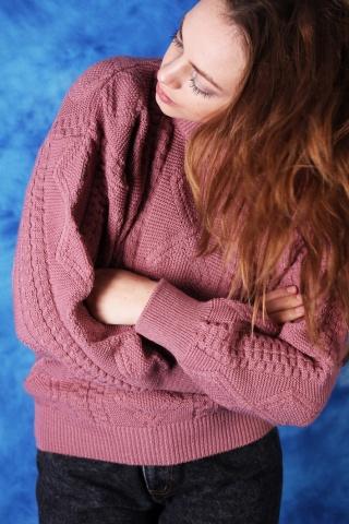 Vintage lekki sweterek w...