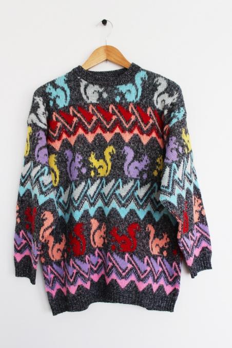 Vintage kolorowy sweterek w...