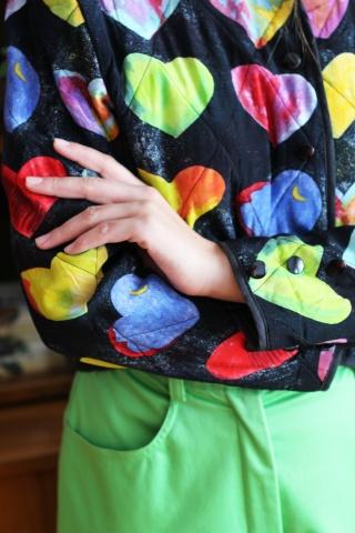 Vintage pikowana kurteczka...