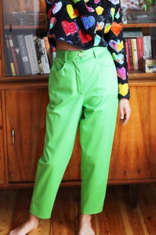 Vintage bawełniane zielone...