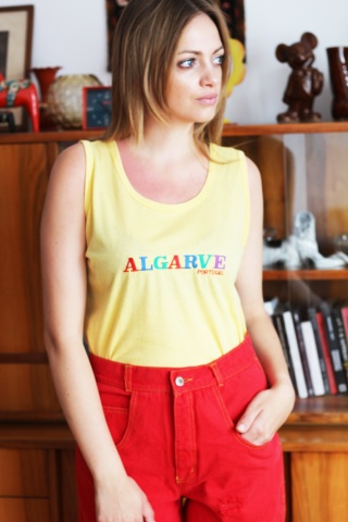 Vintage żółty pastelowy top...