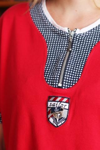 Vintage czerwony t-shirt z...