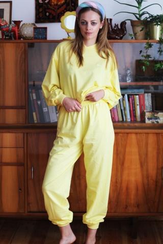 Vintage pastelowy żółty...