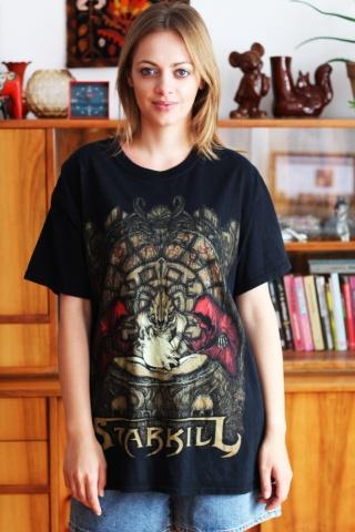 Vintage czarny band t-shirt...