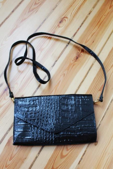 Vintage czarna torebka...