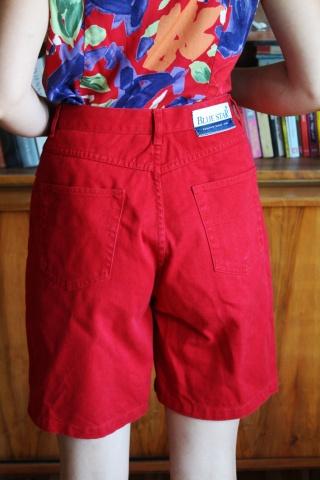 Vintage czerwone jeansowe...