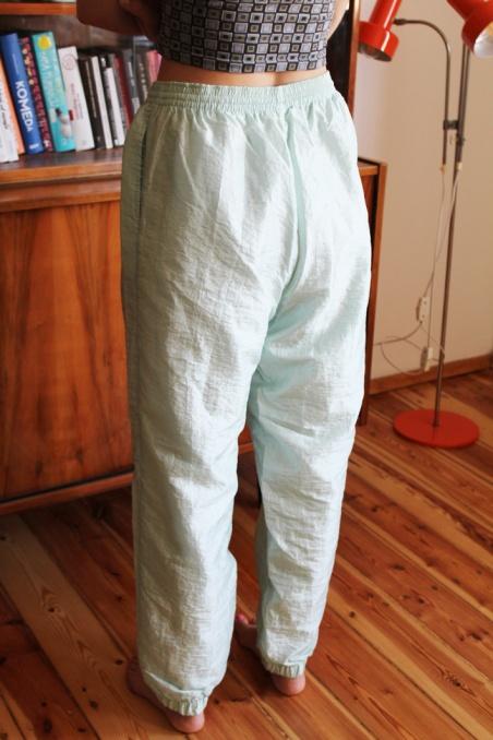 Vintage miętowe spodnie...