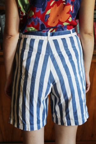 Vintage jeansowe pasiaste...
