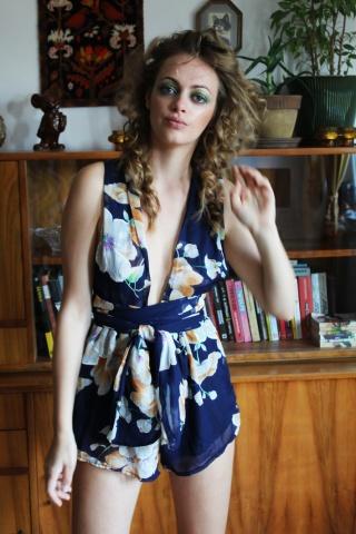 Vintage wiązany kombinezon...
