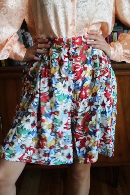 Vintage szorty w kolorowe...