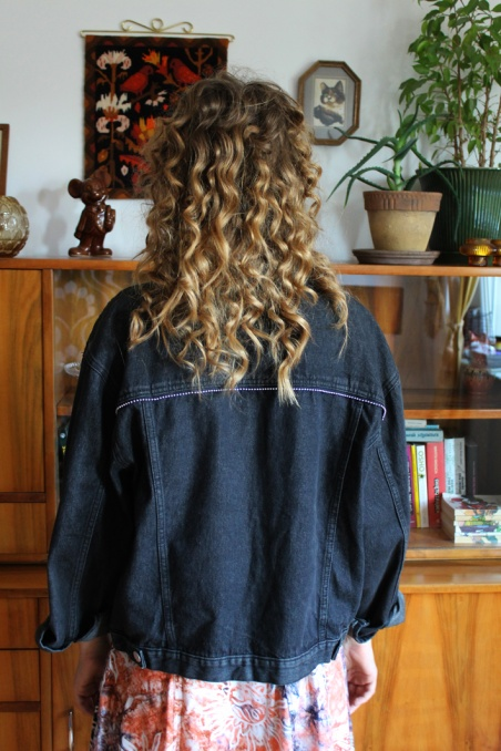 Vintage ciemna jeansowa...