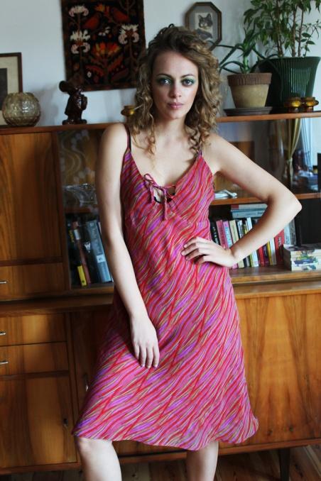 Vintage zwiewna sukienka na...