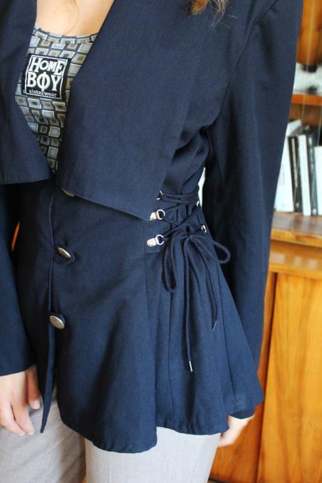 Vintage granatowa marynarka...