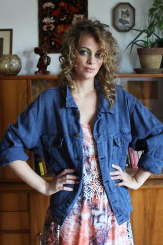 Vintage niebieska kurtka...