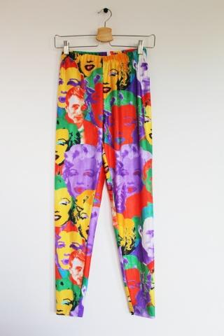 Vintage kolorowe legginsy...