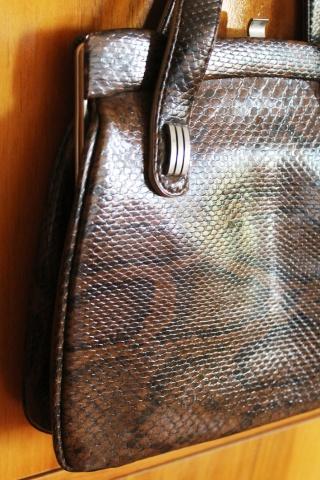 Vintage brązowa torebka...