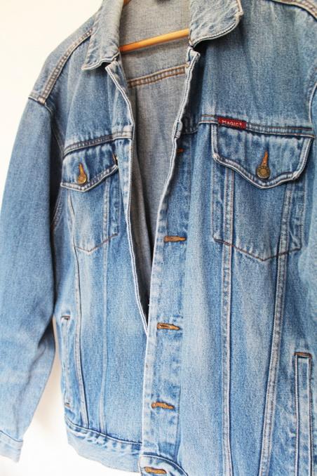 Vintage blue jeans oversize...