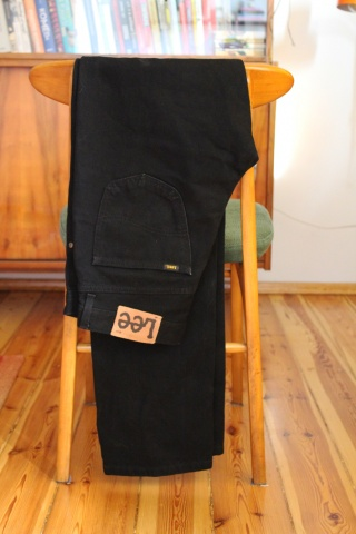 Vintage czarne jeansy LEE...