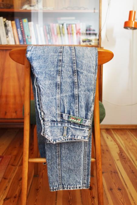 Vintage marmurkowe jeansy...