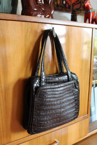 Vintage brown eco leather...