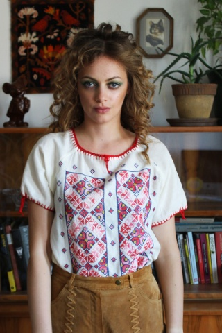 Vintage cotton top with...