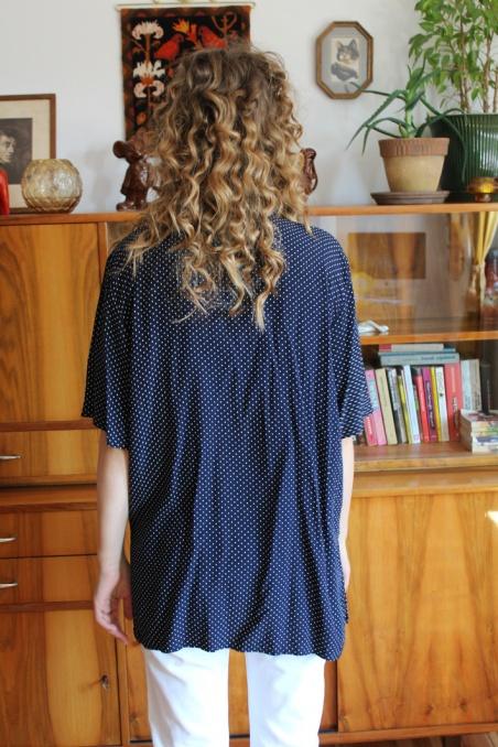 Vintage granatowa koszula z...