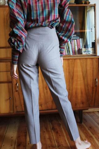 Vintage wełniane spodnie...