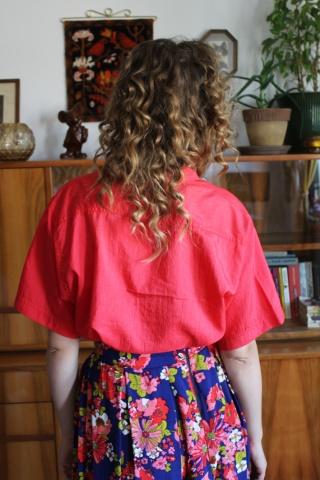 Vintage koszula w malinowym...